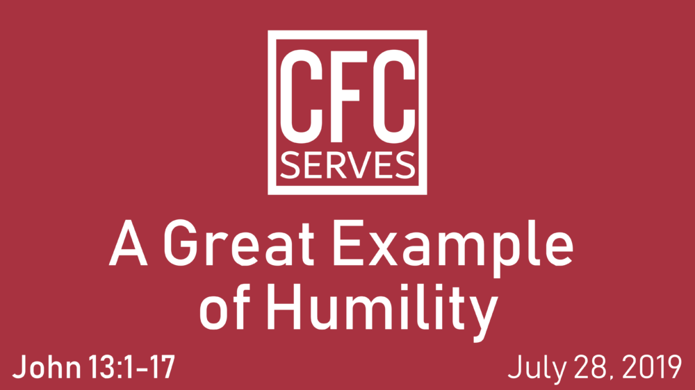 A Great Example of Humility Image